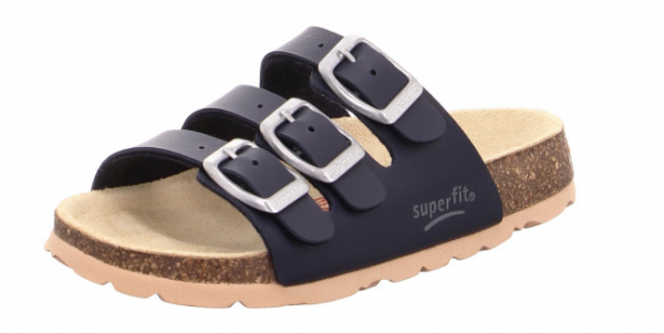 Superfit Fußbettpantoffel Kinder Schuhe 0-800113 (Blau 80)