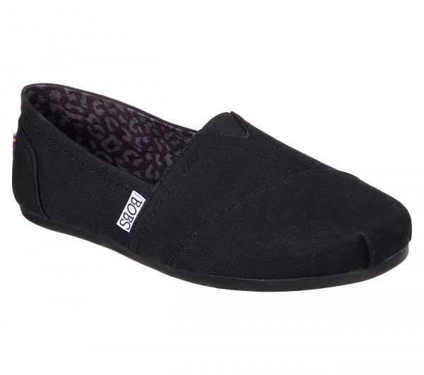 Skechers Bobs Plush - Peace And Love Damen Schuhe 33645 (Schwarz-BLK)