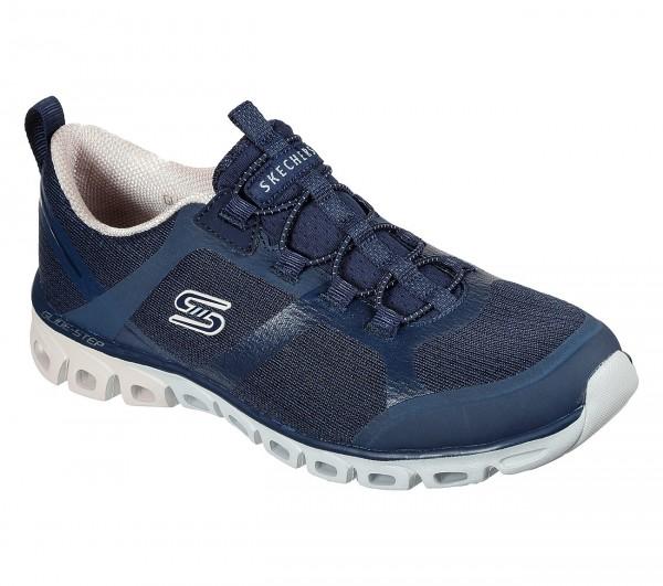Skechers Glide-Step - Dashing Days Damen Sneaker 104195 (Blau-NVPK)