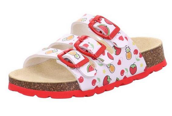 Superfit Fußbettpantoffel Kinder Schuhe 1-800113 (Weiß 10)