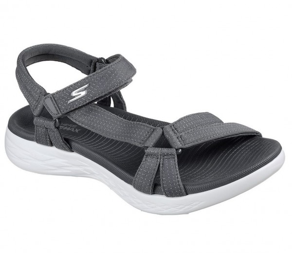 Skechers On the GO 600 - Brilliancy Damen Sandale 15316 (Grau-CHAR)