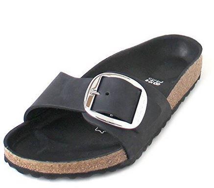 Birkenstock Madrid Big Buckle FL normal Damen Sandale 1006522 (schwarz)