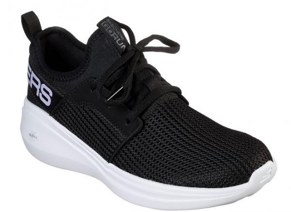 Skechers GoRun Fast - Valor Damen Sneaker (Schwarz/Weiß-BKW)