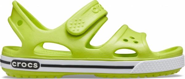 Crocs Crocband II Sandal PS Kinder Sandale (Lime Punch/Black)