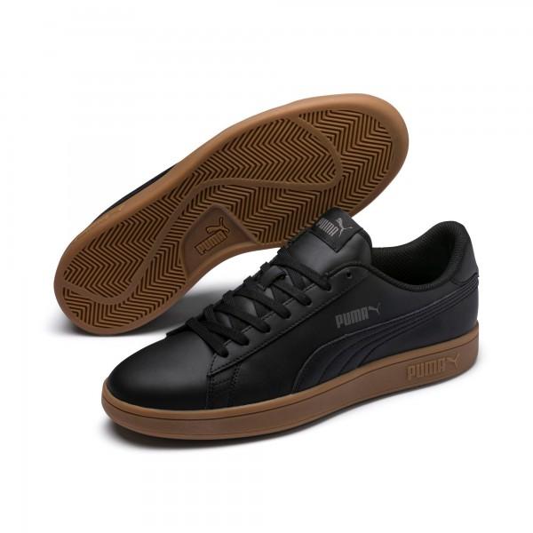 Puma Smash v2 L Herren Sneaker 365215 (black-gum 12)