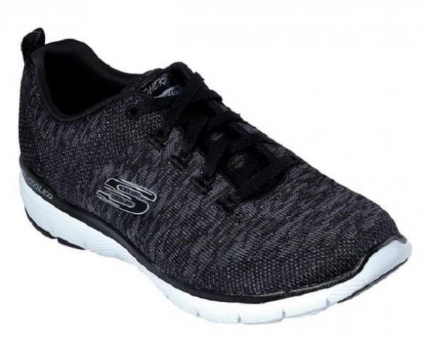 Skechers Flex Appeal 3.0 Damen Sneaker 13062(Schwarz/Weiß-BKW)