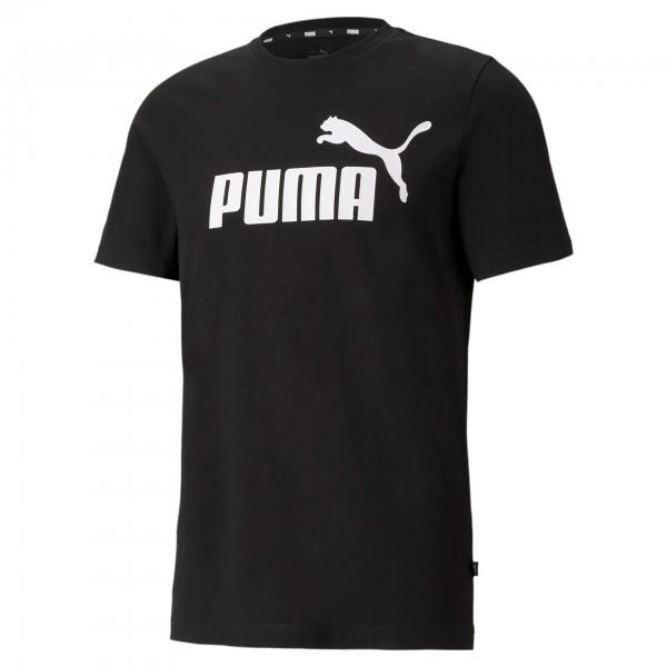 Puma ESS Logo Tee Herren T-Shirt 586666 (Schwarz 01)