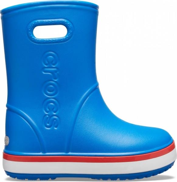 Crocs Crocband Rain Boot (Bright Cobalt/Flame)
