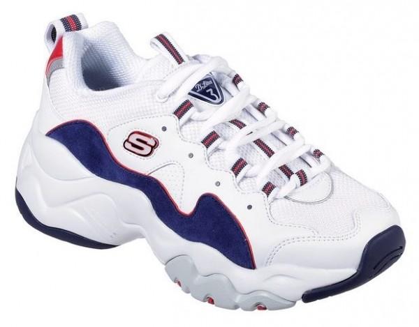 Skechers D'Lites 3 - Zenway Damen Sneaker (Weiß/Blau-WNVR)