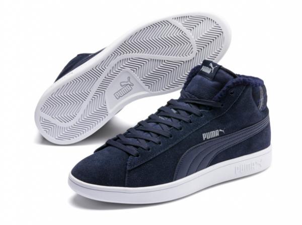 Puma Smash v2 Mid WTR Herren Sneaker 366810 (Peacoat 02)