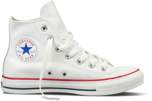 Converse Chucks Taylor All Star Hi Leder 132169C (weiß)