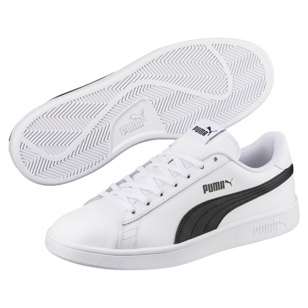 Puma Smash v2 L Herren Sneaker 365215 (white-black 01)
