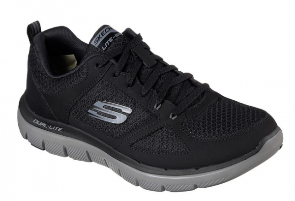 Skechers Flex Advantage 2.0 - Lindmann Herren Sneaker 52189 (Schwarz-BKCC)