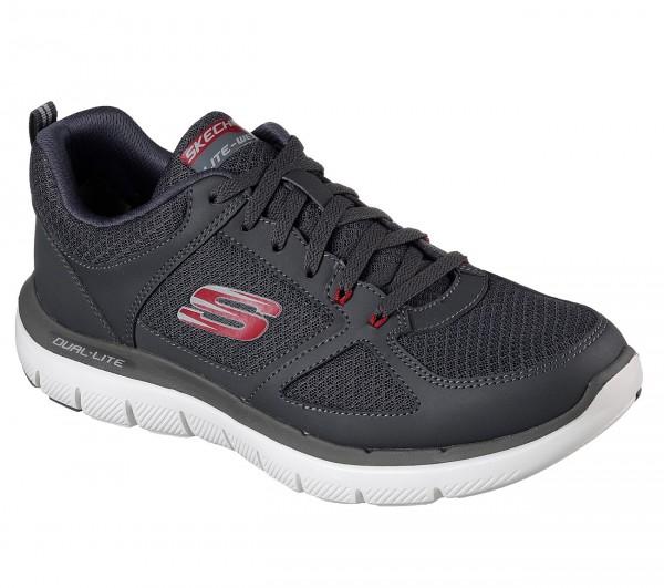 Skechers Flex Advantage 2.0 - Lindmann Herren Sneaker 52189 (Grau-CCRD)