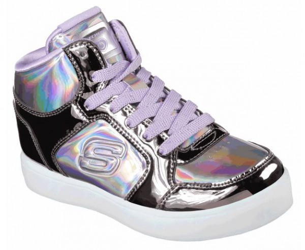 Skechers S Lights: Energy Lights -Shiny Bright Sneaker (Metallic-Lila-GUPR)