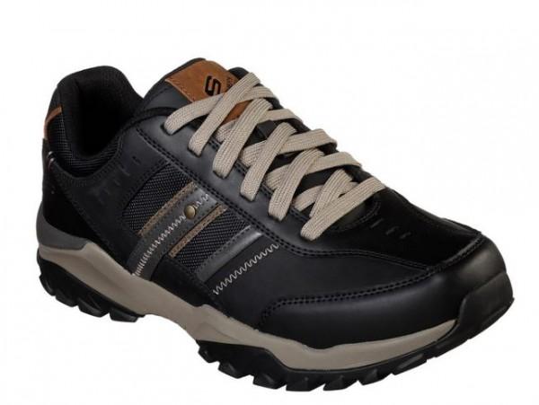 Skechers Relaxed Fit: Henrick Delwood Herren Sneaker 66015 (Schwarz-BLK)