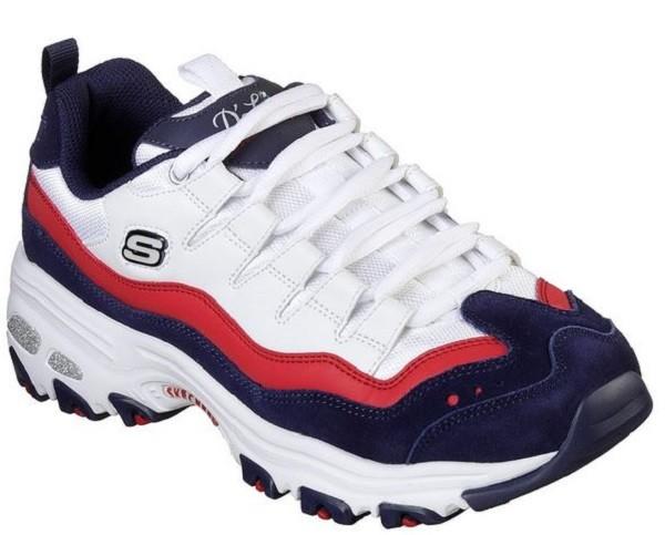Skechers D'Lites - Sure Thing Damen Sneaker (Weiss/Blau-WNVR)