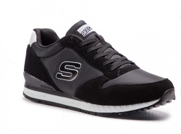 Skechers Sunlite – Waltan Herren Sneaker 52384 (Schwarz-BLK)