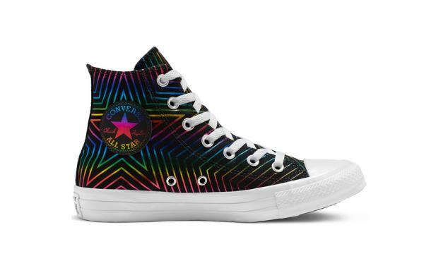 Converse Chuck Taylor All Star Exploding Star Hi Damen Sneaker 565395C (Schwarz)