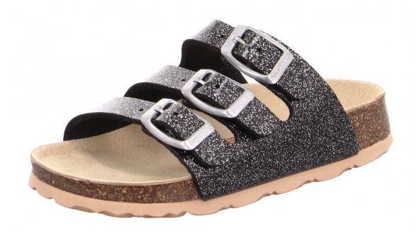 Superfit Fußbettpantoffel Kinder Schuhe 0-800113 (Schwarz 0100)