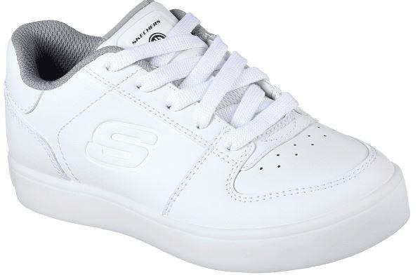 Skechers S Lights: Energy Lights - Elate Kinder Sneaker 90601L (Weiß-WHT)