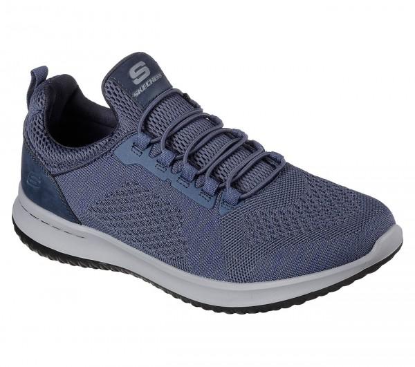 Skechers Delson - Brewton Herren Sneaker 65509 (Blau-BLU)