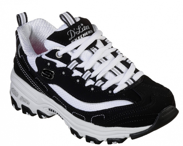 Skechers D'Lites – Biggest Fan Kinder Sneaker (Schwarz/Weiß-BKW)